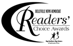 Krupp Florist named Belleville News Democrat #1 Readers' Choice 2012 Florist of the Year