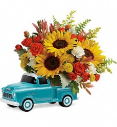 Teleflora's Chevy Pickup Bouquet-799315