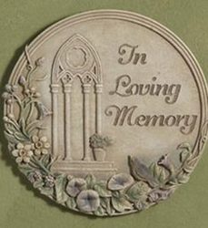 In loving memory plaque angel15-15 from Krupp Florist, your local Belleville flower shop