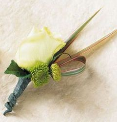 Rose boutonniere from Krupp Florist, your local Belleville flower shop