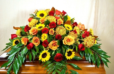 CASKET SPRAY 14-11 from Krupp Florist, your local Belleville flower shop
