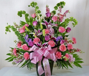 Krupp pink & lavender arrg from Krupp Florist, your local Belleville flower shop