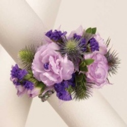 Purple Carnation corsage from Krupp Florist, your local Belleville flower shop