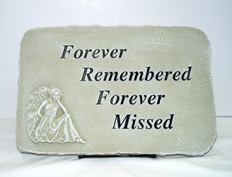 Forever remembered stone-medium SS-138 from Krupp Florist, your local Belleville flower shop