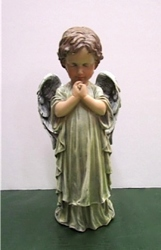 Boy praying angel from Krupp Florist, your local Belleville flower shop
