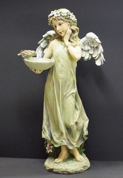 SS-175 ANGEL WITH BIRDFEEDER from Krupp Florist, your local Belleville flower shop