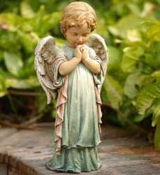 Spring praying angel from Krupp Florist, your local Belleville flower shop