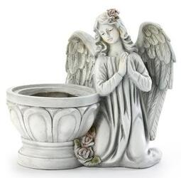 Angel Planter resin angel-planter from Krupp Florist, your local Belleville flower shop