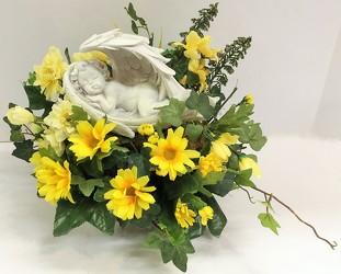 Krupp florist your online flower shop belleville il sleeping angel with silks angel18 5sty from krupp florist your local belleville flower shop mightylinksfo