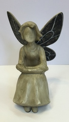 Angel with mosaic wings angel15-20 from Krupp Florist, your local Belleville flower shop