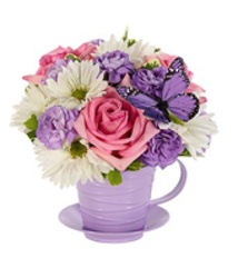 Tea Cup Bouquet -  fresh16-7 from Krupp Florist, your local Belleville flower shop