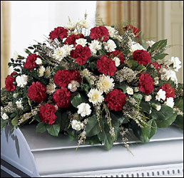 The FTD Sincerity Casket Spray from Krupp Florist, your local Belleville flower shop