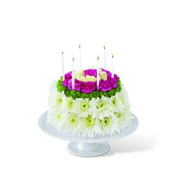 The FTD Wonderful Wishes Floral Cake from Krupp Florist, your local Belleville flower shop