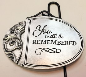 You will be remembered plant insert gp-insert01 from Krupp Florist, your local Belleville flower shop