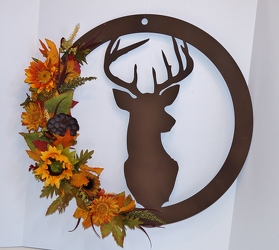 Krupp Deer wreath-hd15-24 from Krupp Florist, your local Belleville flower shop
