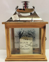 Those who touch our lives lantern from Krupp Florist, your local Belleville flower shop
