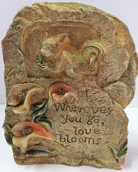 Love blooms resin plaque pet-1803 from Krupp Florist, your local Belleville flower shop