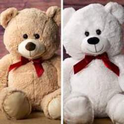 "31.5"" bear with red ribbon plush-bear31 from Krupp Florist, your local Belleville flower shop"