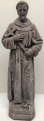 Concrete statue of Saint Francis  from Krupp Florist, your local Belleville flower shop