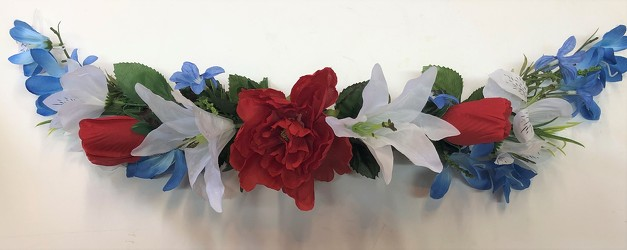 Silk swag-red/white/blue-silkswag19-01 from Krupp Florist, your local Belleville flower shop