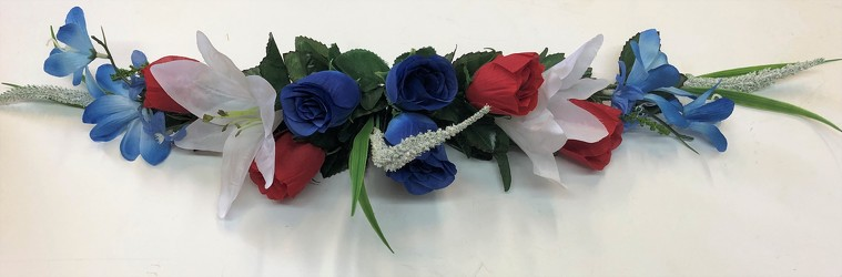 Silk swag-red/white/blue-silkswag19-02 from Krupp Florist, your local Belleville flower shop