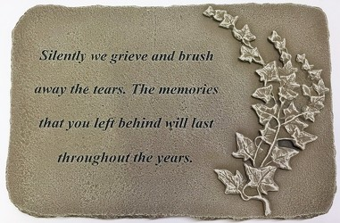 Silently we grieve stone-medium ss-1801 from Krupp Florist, your local Belleville flower shop