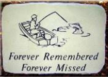 Forever remember/missed fisherman stone-medium ss-frfm-fish from Krupp Florist, your local Belleville flower shop
