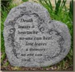 Death leaves a heartache stone-medium ss-g305 from Krupp Florist, your local Belleville flower shop