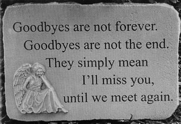 Goodbyes are not forever stone-medium ss-g431 from Krupp Florist, your local Belleville flower shop