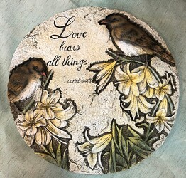 Love bears all things plaque ss-love-bears from Krupp Florist, your local Belleville flower shop