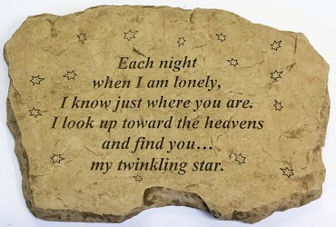 Each night when I am lonely stone-medium ss-med1802 from Krupp Florist, your local Belleville flower shop