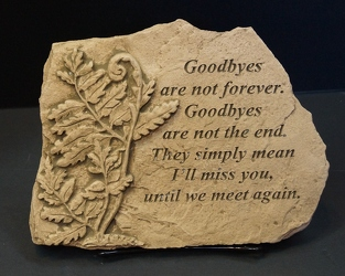 Goodbyes are not forever stone-small ss15s-11 from Krupp Florist, your local Belleville flower shop