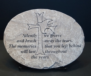 Silently we grieve stone-small ss15s-6  from Krupp Florist, your local Belleville flower shop