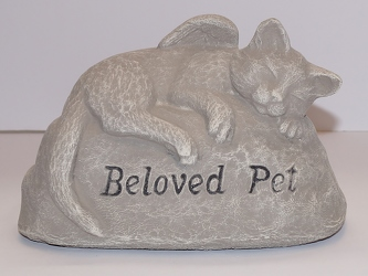 Beloved pet stone-Cat or Dog ss16-14 from Krupp Florist, your local Belleville flower shop