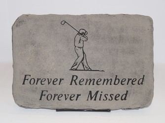 Forever remember forever missed golf stone-medium ss16-18 from Krupp Florist, your local Belleville flower shop