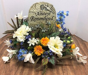 Always Remembered resin plaque-stylized ss2010-sty from Krupp Florist, your local Belleville flower shop