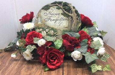 Resin plaque stylized with silks ss2103-sty from Krupp Florist, your local Belleville flower shop