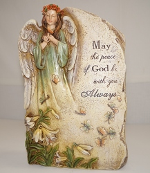 angel plaque from Krupp Florist, your local Belleville flower shop