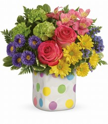 Teleflora Happy Dots Bouquet from Krupp Florist, your local Belleville flower shop