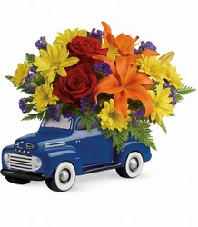 Teleflora Vintage Ford Pickup Bouquet from Krupp Florist, your local Belleville flower shop
