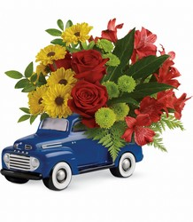 Teleflora Glory Days Ford Pickup from Krupp Florist, your local Belleville flower shop