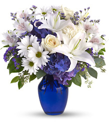 Beautiful in Blue from Krupp Florist, your local Belleville flower shop