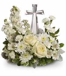 Teleflora Divine Peace Bouquet from Krupp Florist, your local Belleville flower shop