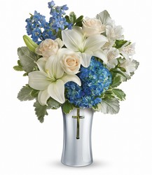 Teleflora's Skies Of Remembrance Bouquet from Krupp Florist, your local Belleville flower shop