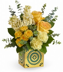Teleflora's Shimmer Of Thanks Bouquet from Krupp Florist, your local Belleville flower shop
