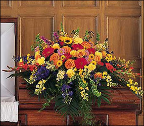 Celebration of Life Casket Spray from Krupp Florist, your local Belleville flower shop