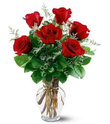 6 Red Roses from Krupp Florist, your local Belleville flower shop