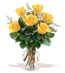 6 Yellow Roses from Krupp Florist, your local Belleville flower shop