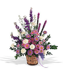 Lavender Reminder Basket from Krupp Florist, your local Belleville flower shop