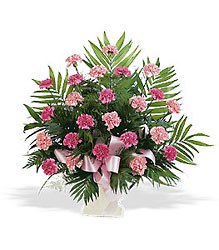 Basket with Pink Carnations from Krupp Florist, your local Belleville flower shop